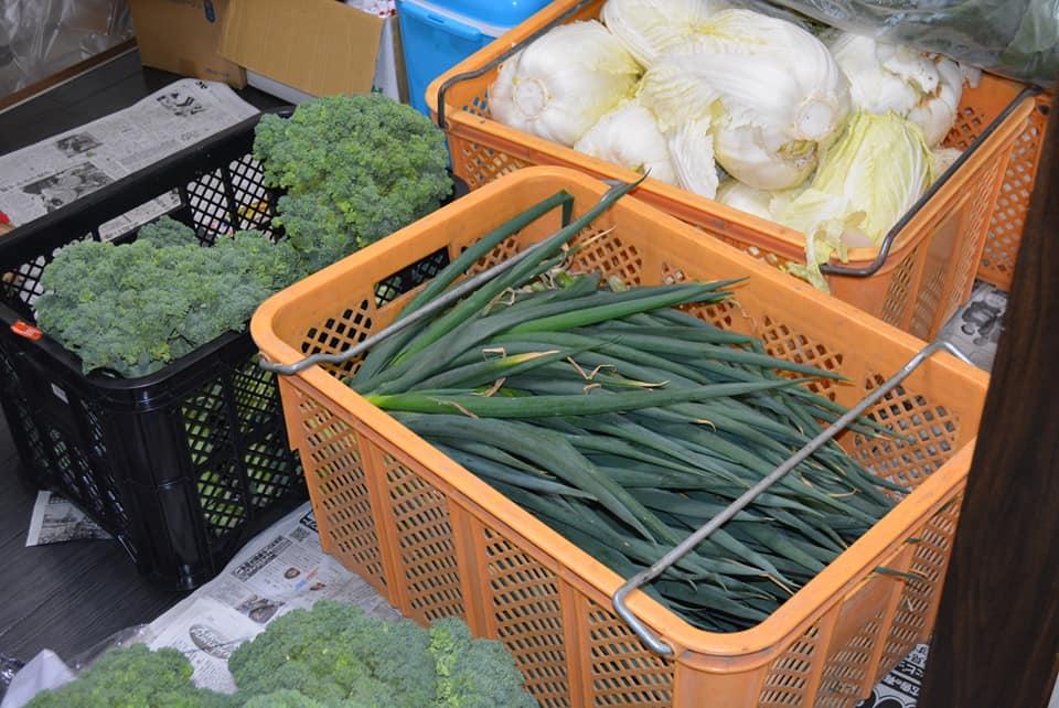 ボナペティ 久留米 フードドライブ ネギとブロッコリーと白菜