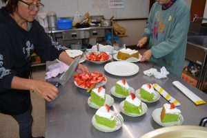 ボナペティ 久留米 多世代食堂「ぎおんさんの森食堂」 クリスマスケーキ
